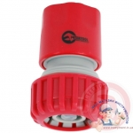 "GE-1020 Конектор 1/2"" с аквастопом для шланга 3/4 INTERTOOL"